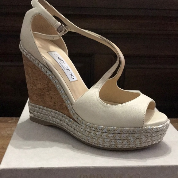 4eaf4af88e Jimmy Choo Shoes | New Dakota Wedge Size 8 Off White | Poshmark